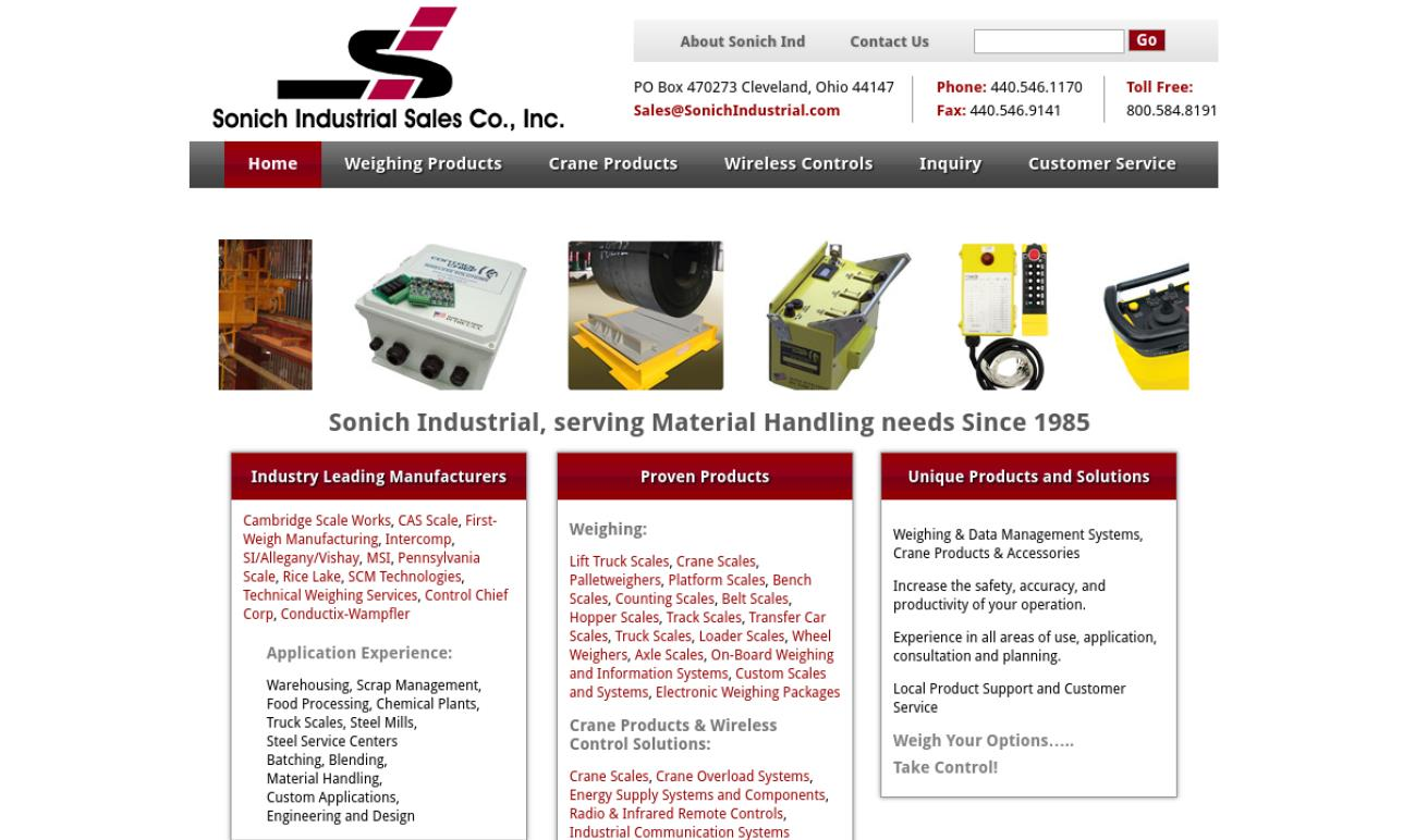 Sonich Industrial Sales Co., Inc.