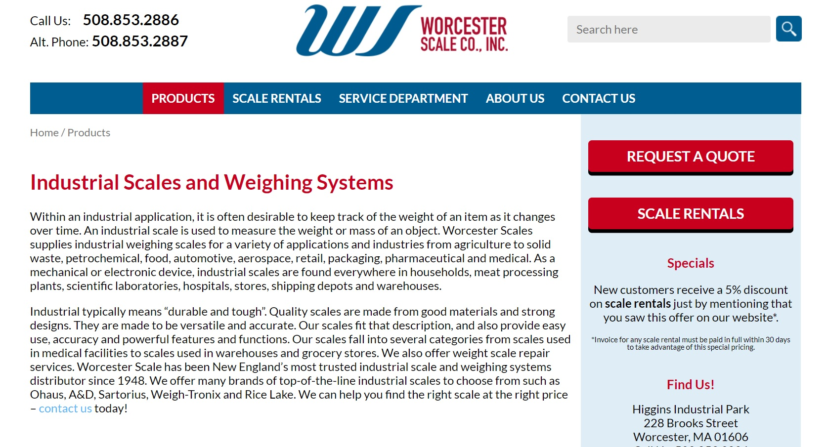 Worcester Scale Co., Inc.